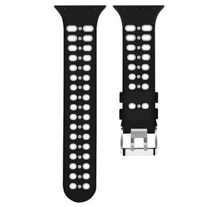 2 Tone Breathable Silicone Sport Apple Watch Strap | Apple Watch | [option1]