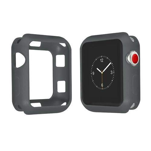 Colored Silicone Protective Apple Watch Case | Apple Watch Case | Dark gray