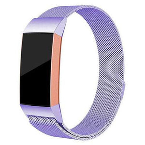Milanese Stainless Steel Fitbit Charge 3 Strap | Fitbit Charge 3 Strap | Lavender Purple