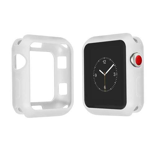 Colored Silicone Protective Apple Watch Case | Apple Watch Case | Light gray