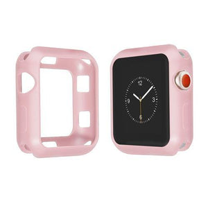 Colored Silicone Protective Apple Watch Case | Apple Watch Case | Light pink