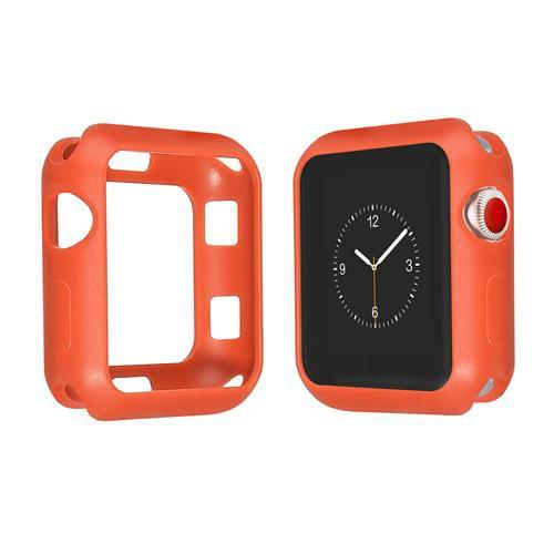 Colored Silicone Protective Apple Watch Case | Apple Watch Case | Orange