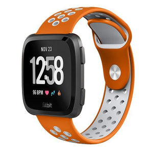 Sports Fitbit Versa Strap | Fitbit Versa | Orange Gray