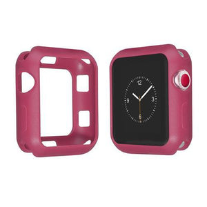 Colored Silicone Protective Apple Watch Case | Apple Watch Case | Rose red