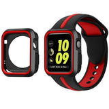 Sports 2 Tone With Case Apple Watch Strap | Apple Watch | Black Red