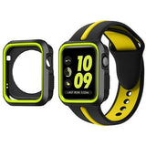 Sports 2 Tone With Case Apple Watch Strap | Apple Watch | Black Yellow