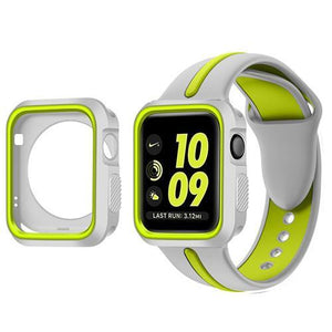 Sports 2 Tone With Case Apple Watch Strap | Apple Watch | Gray Green