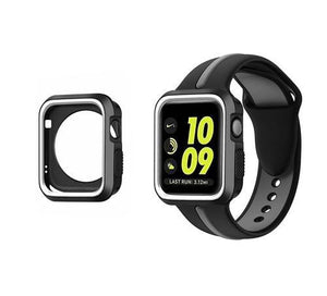 Sports 2 Tone With Case Apple Watch Strap | Apple Watch | Black Gray