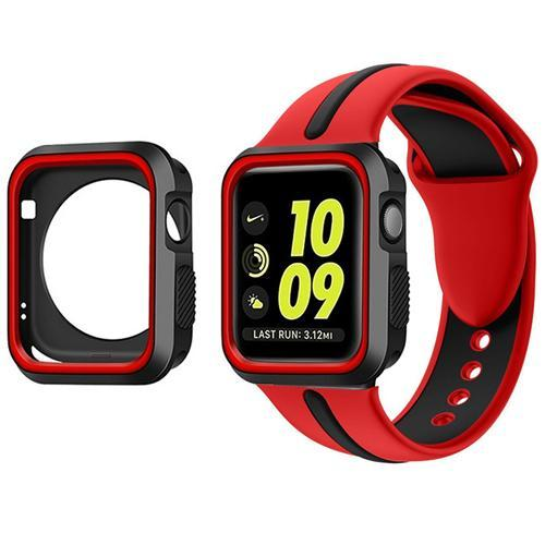 Sports 2 Tone With Case Apple Watch Strap | Apple Watch | Red Black