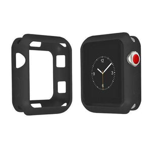 Colored Silicone Protective Apple Watch Case | Apple Watch Case | Black