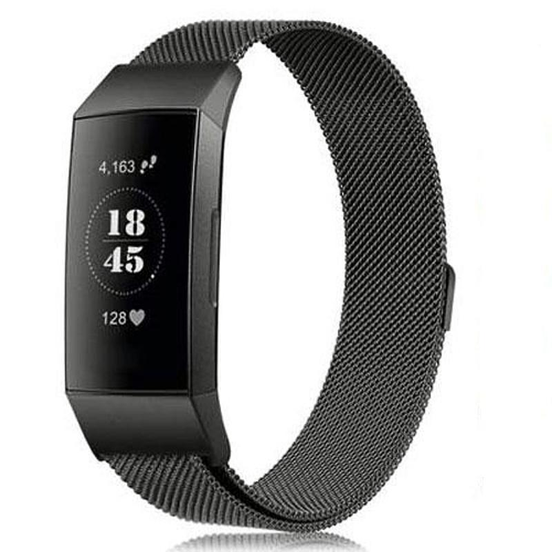 Milanese Stainless Steel Fitbit Charge 3 Strap | Fitbit Charge 3 Strap | Black