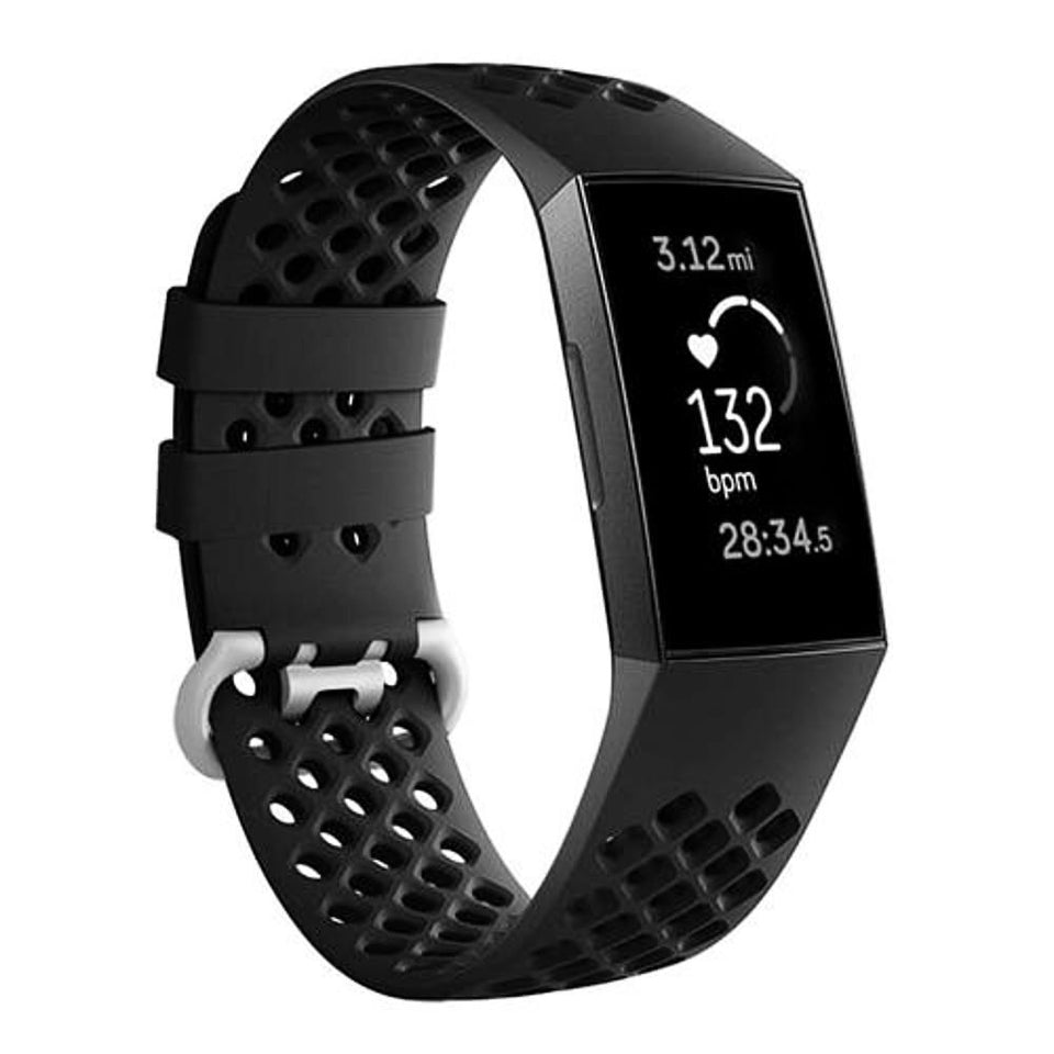 Breathable Silicone Fitbit Charge 3 Strap | Fitbit Charge 3 Strap | Black