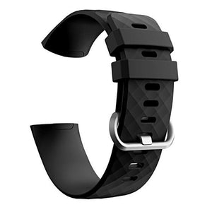 Silicone Sports Fitbit Charge 3 Strap | Fitbit Charge 3 Strap | Black