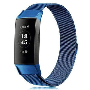 Milanese Stainless Steel Fitbit Charge 3 Strap | Fitbit Charge 3 Strap | Blue
