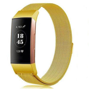 Milanese Stainless Steel Fitbit Charge 3 Strap | Fitbit Charge 3 Strap | Gold
