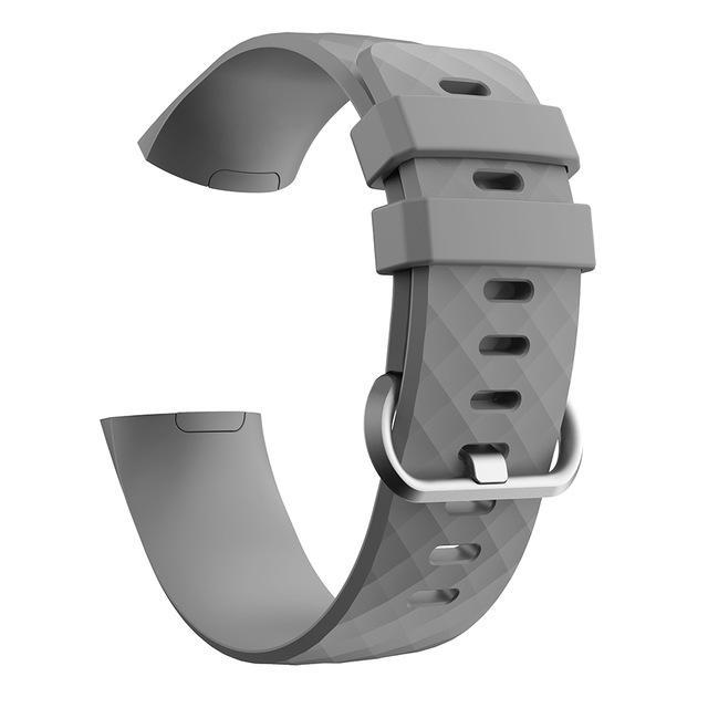 Silicone Sports Fitbit Charge 3 Strap | Fitbit Charge 3 Strap | Gray