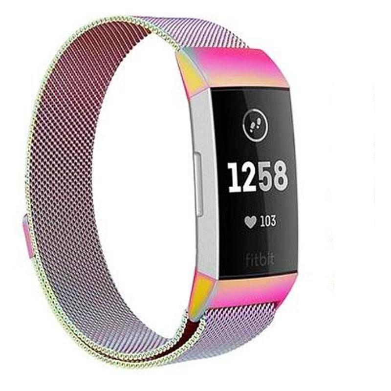 Milanese Stainless Steel Fitbit Charge 3 Strap | Fitbit Charge 3 Strap | Multicolor