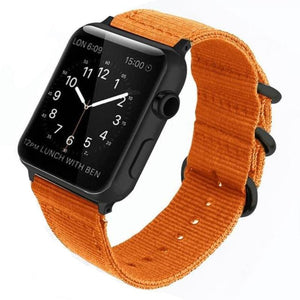 Double Buckle Nylon Apple Watch Strap | Apple Watch Strap | Orange