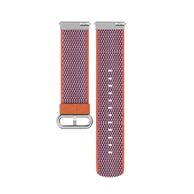 Woven Nylon Fitbit Versa Strap | Fitbit Versa | Orange Lattice