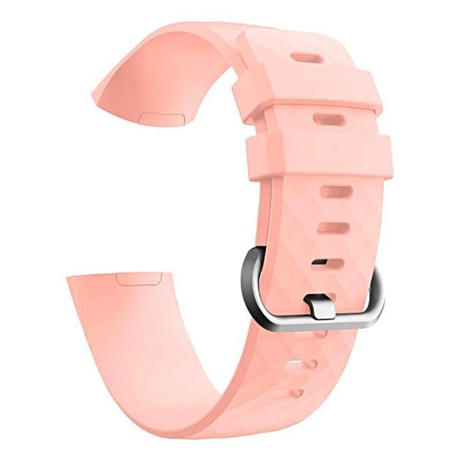 Silicone Sports Fitbit Charge 3 Strap | Fitbit Charge 3 Strap | Pink