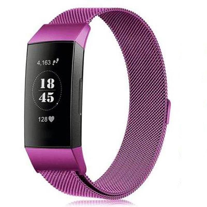 Milanese Stainless Steel Fitbit Charge 3 Strap | Fitbit Charge 3 Strap | Purple