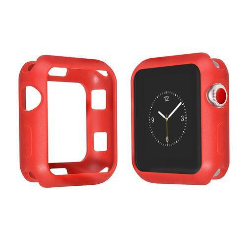 Colored Silicone Protective Apple Watch Case | Apple Watch Case | Red