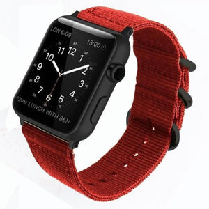 Double Buckle Nylon Apple Watch Strap | Apple Watch Strap | Red