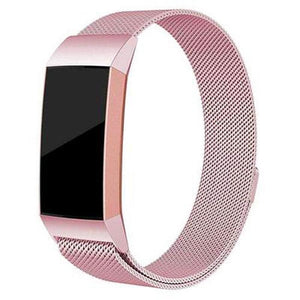 Milanese Stainless Steel Fitbit Charge 3 Strap | Fitbit Charge 3 Strap | Rose Pink