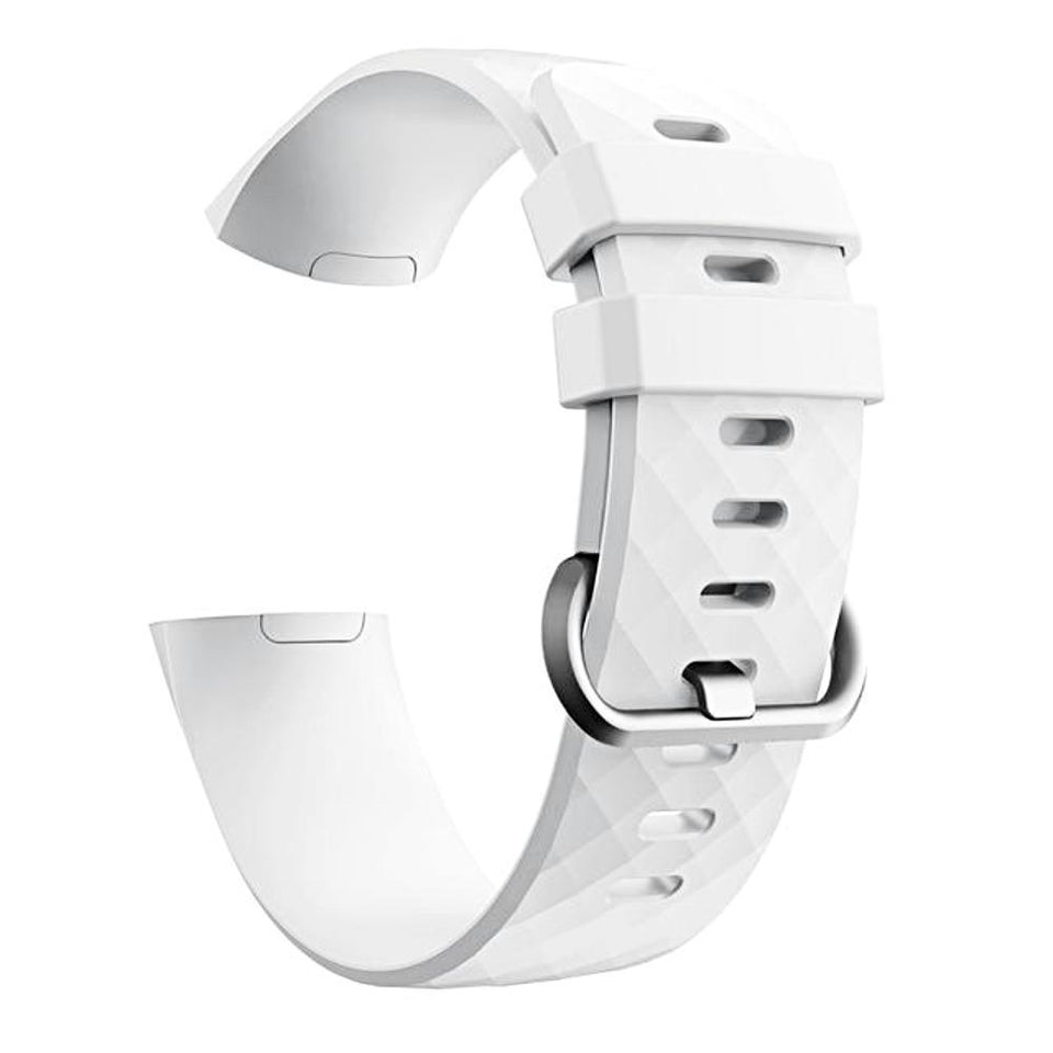 Silicone Sports Fitbit Charge 3 Strap | Fitbit Charge 3 Strap | White