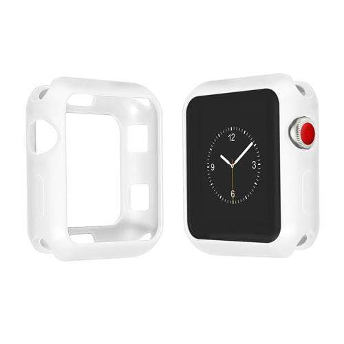 Colored Silicone Protective Apple Watch Case | Apple Watch Case | White