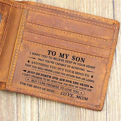 Mom To Son - Never Lose - Leather Wallet