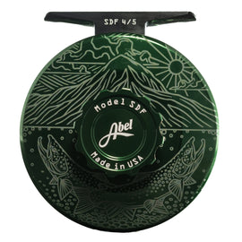 Abel SDF Fly Reel - Custom 4/5 Underwood - Ridge Risers Deep Green