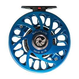 Custom Nautilus NV-G 8/9 Blue Fly Reel