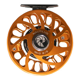 Custom Nautilus NV-G 8/9 Orange Fly Reel