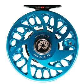 Custom Nautilus NV-G 9/10 Turquoise Fly Reel