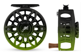 Custom Abel SDF Fly Reel - Satin Black Green Fade 5/6