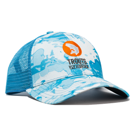 Trouts x Simms Icon Trucker - Cloud Camo Blue