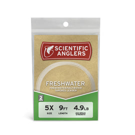 Scientific Anglers Freshwater Nylon Tapered Leader 2 Pack - 9'