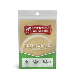 Scientific Anglers Freshwater Nylon Tapered Leader 2 Pack - 7.5'