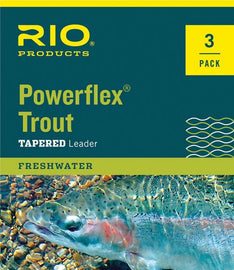 *3 Pack* Rio Powerflex Trout Leader - 9 ft.