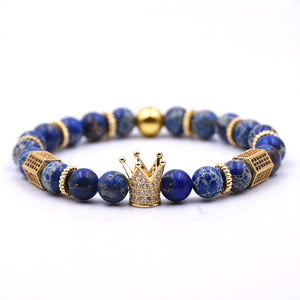 Blue Earth Dice Bracelet
