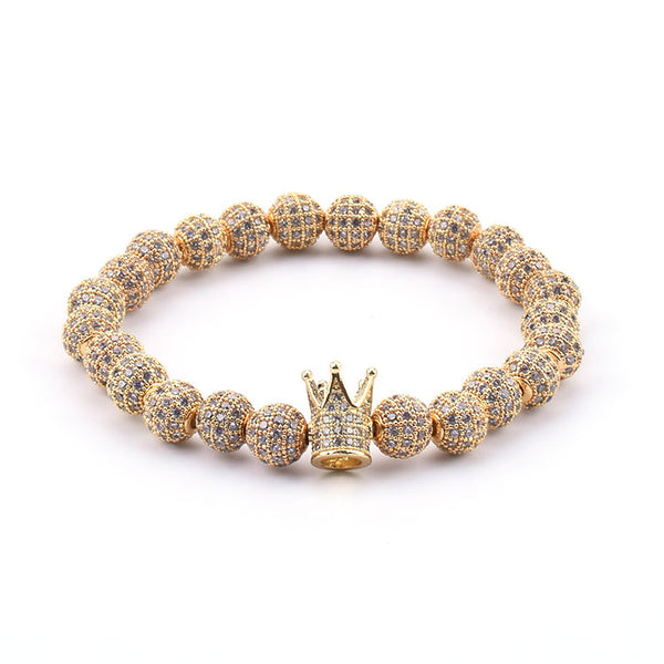 Crux Crystal Encrusted Bracelet - Ouro Goods