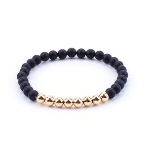 Corvus Beaded Gold Bracelet