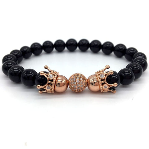 Rose Gold Apus Beaded Bracelet