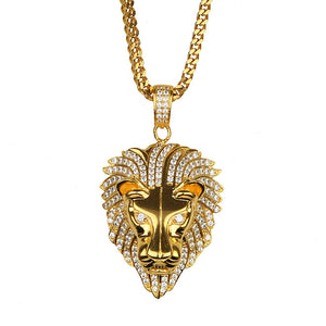 Mihos Crystal Lion Pendant - Ouro Goods