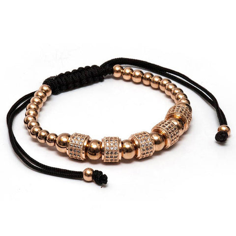 Lynx Gold Crystal Beaded Bracelet