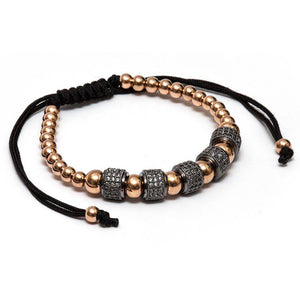 Lynx Rose Gold Crystal Beaded Bracelet