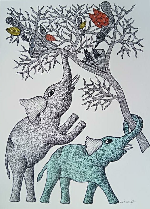Bird and the elephants