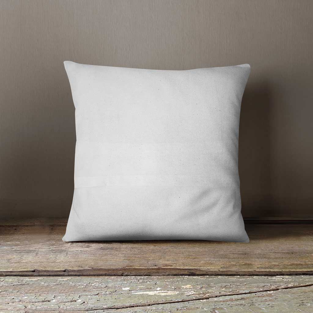 white cushion cover back