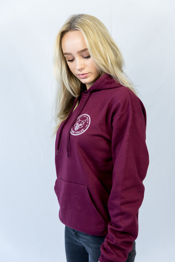 Discover The World Hoodie Maroon
